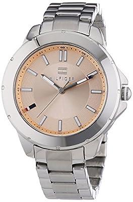 Tommy Hilfiger Watches KIMMIE - Reloj de cuarzo para mujer, correa de acero inoxidable color plateado