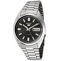 Reloj Seiko SNXS79K automático unisex con correa de acero inoxidable, color negro de Seiko