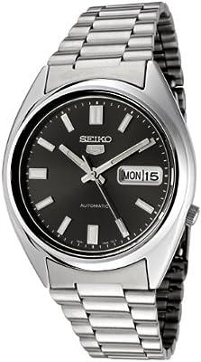 Seiko SNXS79K - Reloj analógico automático unisex con correa de acero inoxidable, color gris