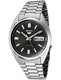 amazon co uk seiko watches seiko snxs79k 5 gent men s automatic analogue watch black dial steel bracelet grey