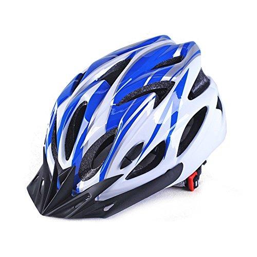 Fahrradhelm, MAXLY Verstellbarer Leichter Mountainbike-/Straßenrad-Helm für Damen und Herren-Blau … (Fa) (Kopf Visier Schweiß)
