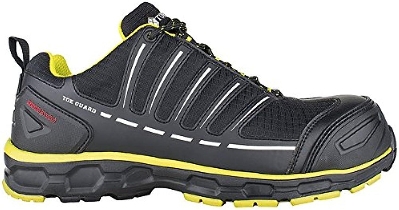 Toe Guard tg8051048 Sprinter – Zapatos de seguridad S3 ESD SRC talla 48 negro/limón verde