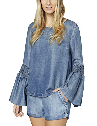 Colorado Denim Damen Bluse Gloria Blau (Pacific Blue 361) Medium