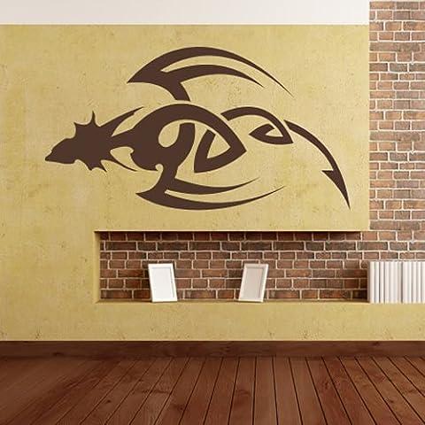 Tribal Dagger Dragon Wall Sticker Adesivo Tribal Art disponibile in 5 dimensioni e 25 colori Grande Avorio - Avorio Dagger