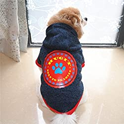 sunnymi Fashion Cute Little Solid Pet Dog Clothing Lovely Small Puppy Pet Dog Cat Winter Warm Classic Sweater Clothes Costume Apparel For Walking Jogging Hoodie Sweater Fleece