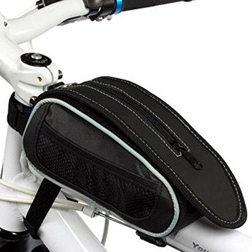Fahrrad-Reparatur-Werkzeug-Tasche Fahrrad-Sattel-Beutel-Schlauch-Paket schwarz grau