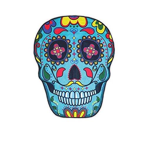 Omiky® - Tapete Hippie para colgar en pared, 1 pieza: Toalla Playera, Cubierta de Bikini, Mantel de Picnic, Esterilla de Yoga, Mantel de Mesa, Sabana de Cama., poliéster, Colorful Skull, 150*120cm/59*47'