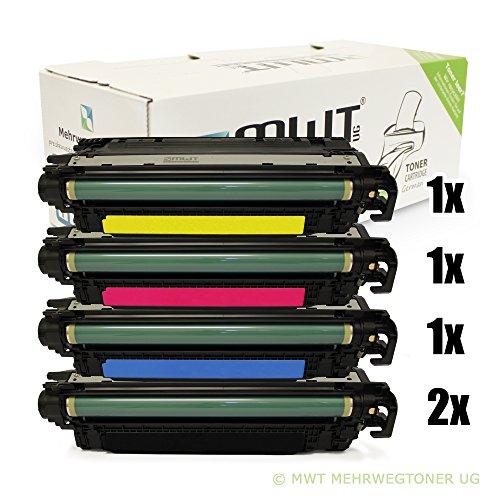 5x MWT XXL Remanufactured Toner für HP Color LaserJet CP 3525 X DN N ersetzt CE250X-53A 504A 504X (Hp Ce252a)