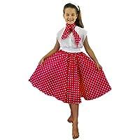 Amazon.it  gonna anni 50 bambina - Bambini   Costumi  Giochi e ... 67cd636b666