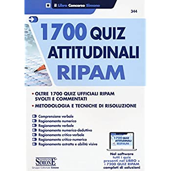 1700 Quiz Attitudinali Ripam. Con Contenuto Digitale Per Download E Accesso On Line