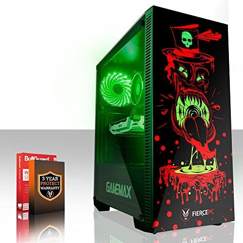 Fierce GOBBLER RGB Gaming PC - Schnell 6 x 4.5GHz Hex-Core Intel Core i7 8700K, All-In-One Flüssigkühler, 240GB Solid State Drive, 1TB Festplatte, 16GB von 2666MHz DDR4 RAM / Speicher, NVIDIA GeForce GTX 1060 6GB, Gigabyte Z370 HD3 Hauptplatine, GameMax Draco with Witch Doctor HD Armour RGB Computergehäuse, HDMI, USB3, Wi - Fi, VR Bereit, Perfekt für High-End-Spiele, Windows nicht Enthalten, 3 Jahre Garantie 870592