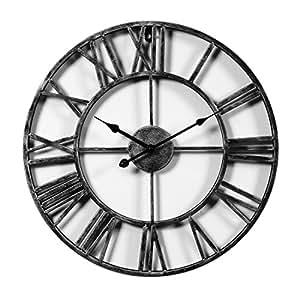 txxci horloge pendule murale en m tal vintage diam tre