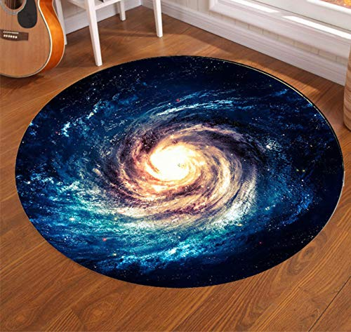 Mianbao Runder Teppich Wirbel Durchmesser Großer Boden Für Wohnzimmer Rutschfester Stuhl Tischteppich Leicht Zu Reinigen Von Canon Dald 120 cm -