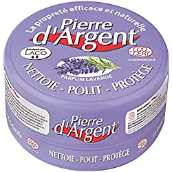 Pierre d'Argent Lavande 300g - Pierre blanche naturelle de nettoyage Parfum Lavande