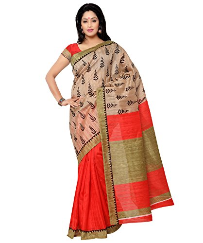 Vipul Silk Saree (11434 _off-White)