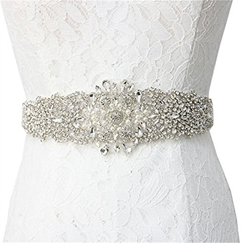 Trlyc cristallo nuziale diamante applique applique Sash wedding Belt trlyc champagne ribbon