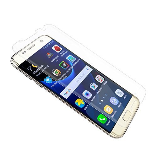 Samsung Galaxy S7 Edge, OBYOBY Film Protection d'écran en Verre Trempé Glass Screen Protector Vitre Tempered pour Samsung Galaxy S7 Edge - Dureté 9H, Ultra-mince 0.25 mm, 2.5D Bords Arrondis- Anti-rayure, Anti-traces de Doigts,Haute-réponse, Haute transparence