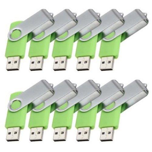 SODIAL(R)10 Stueck 2GB USB 2.0 Flash Laufwerk Memory Stick Speicher mit drehbarem Clip - 2