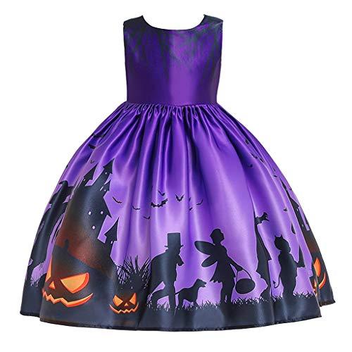 Zilosconcy Halloween Kinder Jungen Junge Kostüm Cartoon Teufel Kürbis Brief Drucken Halloween Mädchen Kleid Kostüm Prinzessin Kleid Hohe Qualität 100% - Baby T Bird Kostüm