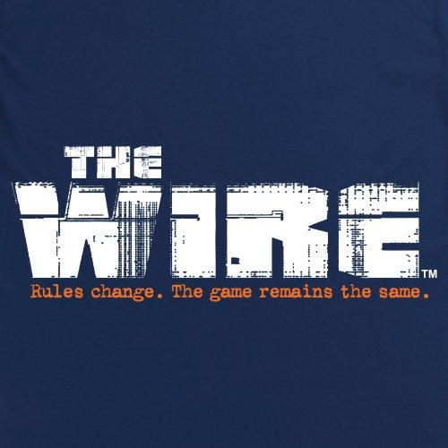 Official The Wire T-Shirt - Rules, Herren Dunkelblau