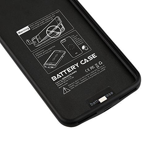Lenuo 5200mAh Power Bank iPhone 7 Custodia Batteria Cover Ricaricabile a lunga durata, Backup Custodia per Apple Iphone 7 (4.7) - Nero