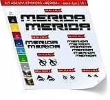 Pimastickerslab Merida Fahrrad-Aufkleber Kona, 18 Stück, Artikelnummer 0420, verschiedene Farben, Nero cod. 070