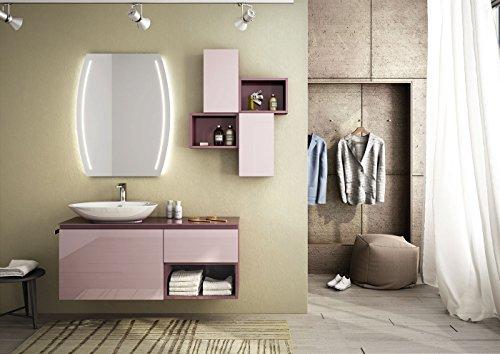 Bagno Lilla E Rosa : Dafnedesign mobile da bagno top in vetro color viola lavabo