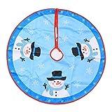 Milnut Weihnachtsbaumdecke Schneemann, Voller Weihnachtlicher Atmosphäre, und Bietet Viel Platz (Blau-80cm)