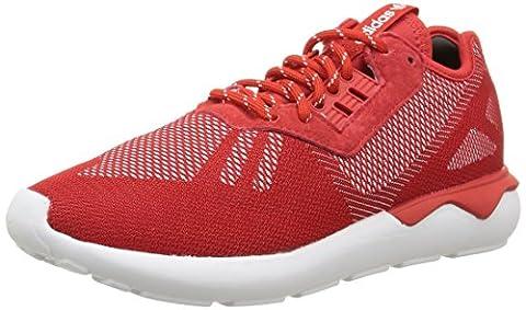 adidas Unisex-Erwachsene Tubular Runner Weave Laufschuhe, Rot (Scarle/Scarle/Ftwwht), 38 2/3 EU