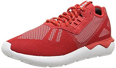 adidas Tubular Runner Weave, Baskets Homme, Rouge (Scarlet/Scarlet/White), 37 1/3