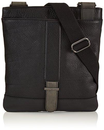 Calvin Klein Jeans Umhängetasche Coveredstraps Mini Flat Crossbody Schwarz (Black) J5DJ500 Preisvergleich