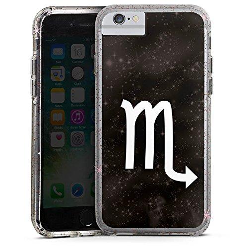 Apple iPhone X Bumper Hülle Bumper Case Glitzer Hülle Sterne Stars Scorpion Bumper Case Glitzer rose gold
