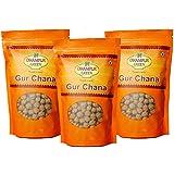 Dhampur Green Gur Chana (Pack of 3, 450 g)