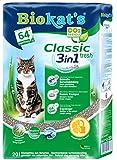Biokat's Classic Fresh 3in1 Katzenstreu mit Frühlings-Duft | verschiedene Korngrößen für feste Klumpen und schnelle Geruchsbindung | 1 Sack (1 x 20 L)