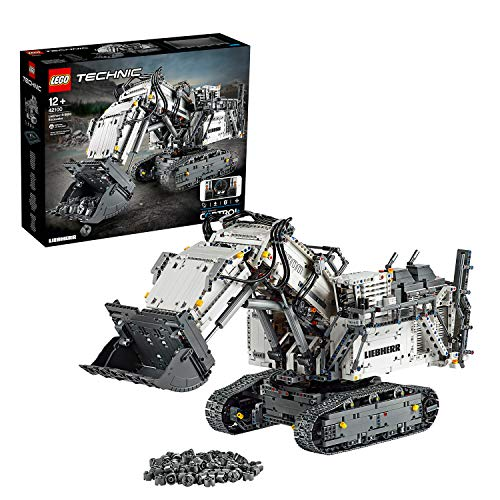 LEGO 42100 Technic Control+ Liebherr R 9800 Excavator App Controlled Advanced Construction Set with Interactive Motors and Bluetooth Connectivity