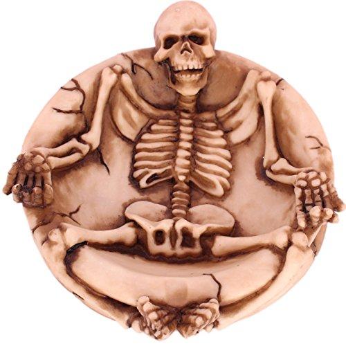 SRI Antique Lying Down Skeleton Ashtray