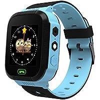 Reloj inteligente para niños Smartwatch de fitness para Android con sistema IOS, con linterna y cámara de 1,14 pulgadas, 0.29 pounds, color Blue 1.44in