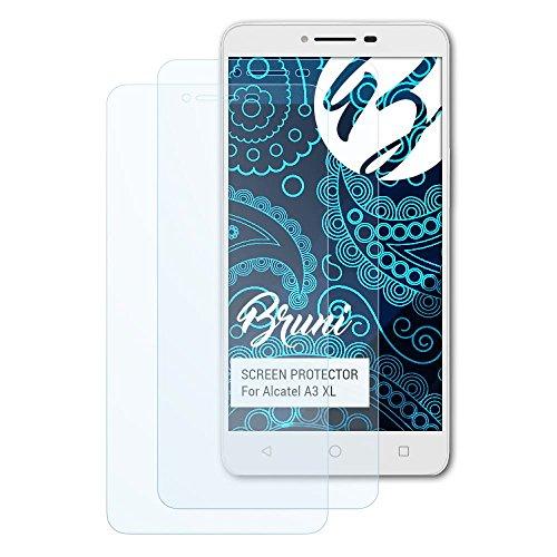 Bruni Schutzfolie für Alcatel A3 XL Folie, glasklare Bildschirmschutzfolie (2X)