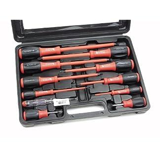 Mannesmann – M11215-11 piezas Juego de destornilladores en maletín de plástico