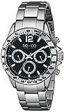 SO & CO New York - 5001.1 - Montre Homme - Quartz - Analogique - aiguilles luminescentes - Bracelet Acier inoxydable argent