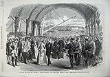 Bateau 1868 de Kingstown de Quai de Prince Pays De Galles Irlande Victoria