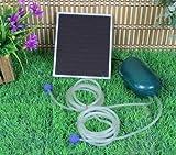 Wehmann Solar Power Oxygen Doppel Sauerstoffpumpe 2l Teichbelüfter Sauerstoff für Tag und Nacht !!!