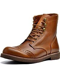 334dac540f0 Botas Martin Para Hombre Botines Con Cordones Zapatos De Motocicleta De  Cuero Genuino Botas De Combate