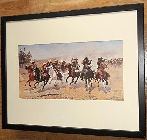 monté et encadrée Wild West Art, 40 x 50 cm, Tableau de Bord pour Bois par  Frederic Remington