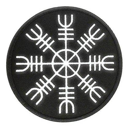 Parche Termoadhesivo Símbolo de Protección Vikingo Aegishjalmur 9 Cm