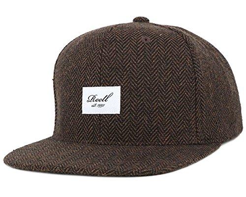 Reell Snapback Cap Tweed 6 Panel Kappe braun herringbone - Einheitsgrösse, verstellbar -