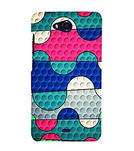 Colourful Pattern 3D Hard Polycarbonate Designer Back Case Cover for Micromax Bolt Q335