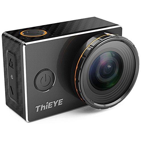 ThiEYE Action Cam Ultra 4K/30fps WiFi Kamera Unterwasser Kamera 12MP Ultra HD Austauschbare Filter Sport Camera Helmkamera Wasserdicht 360 ° Drehung für Motorrad Fahrrad Reiten mit Zubehör Kits (V6)