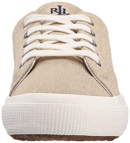 Lauren Ralph Lauren Jolie Fashion Sneaker Natural Flax Linen