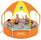 Bestway Frame Pool Splash-in-Shade mit Sonnendach + Sprinkler, 244 x 51cm